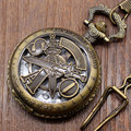 Free Shipping Vintage Bronze Sword Art Online Chain Pocket Watch Necklace Pendant Mens Christmas Gift