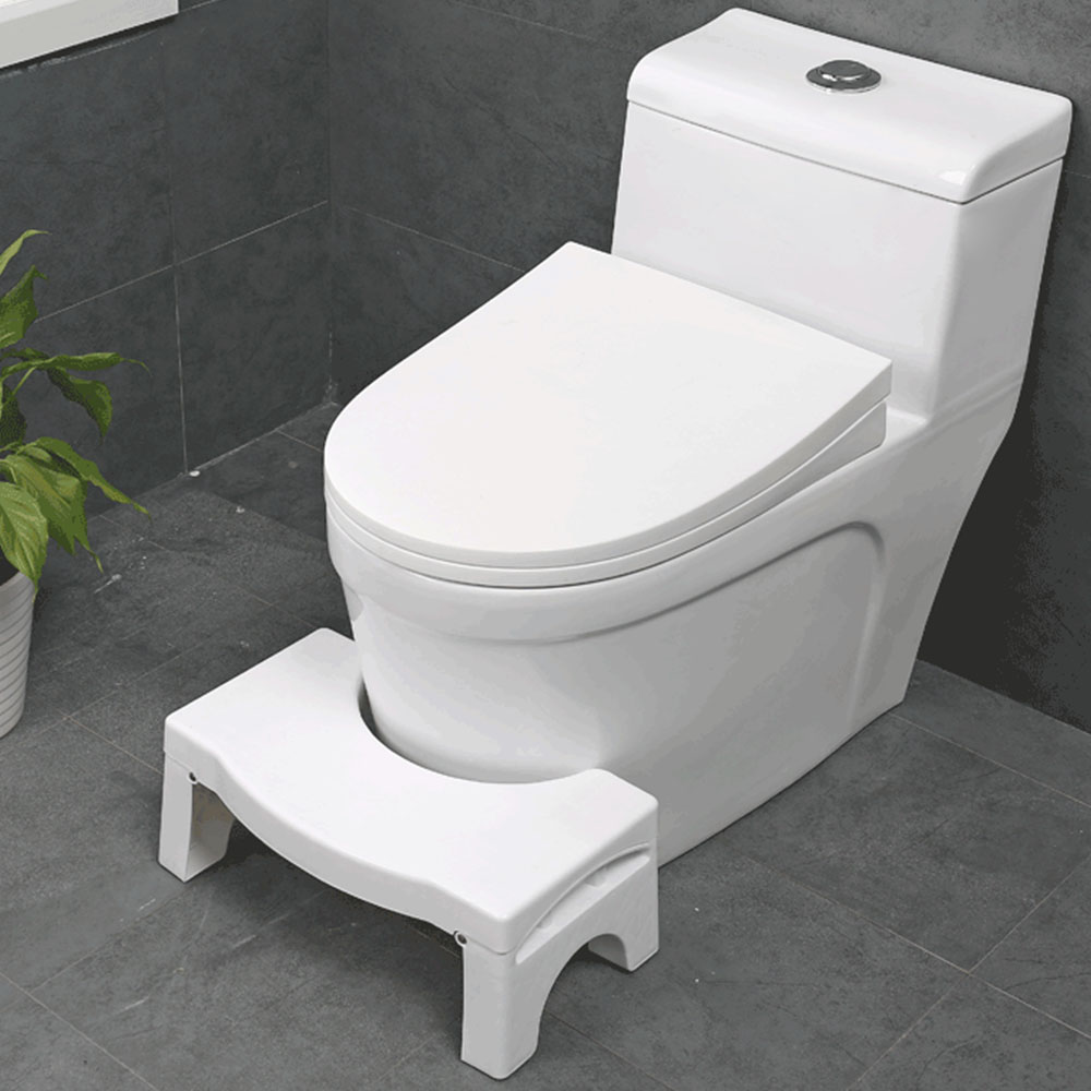 New Qualified Squatty Bathroom Thicken Folding Portable Stools Toilet Stool Step Footstool Piles Relief Aid Safety Folding Stool-in Bathroom Chairs & Stools from Furniture