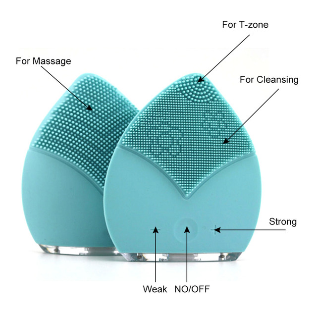 Mini Electric Facial Brush Cleaner Silicone Waterproof Ultrasonic Instrument Facial Skin Care Spa Massager Beauty Tool Device 6