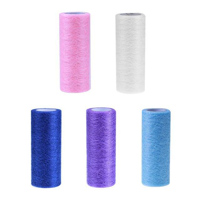 15cm x 10yards Gold Wire Tissue Tulle Roll Spool Craft Medium Hard ...
