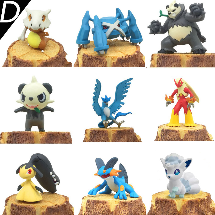 4-5cm Original Articuno Moltres Flareon Noivern Sceptile anime action toy figures Collection model toys KEN HU STORE pokemones