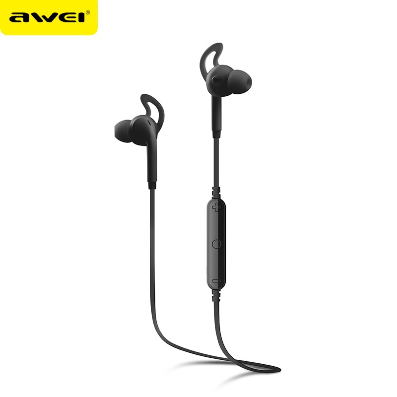 New Awei A610BL Bluetooth Earphone Sport Sweatproof Stereo Earbuds Sound Wireless Earphones with Microphone For iPhone
