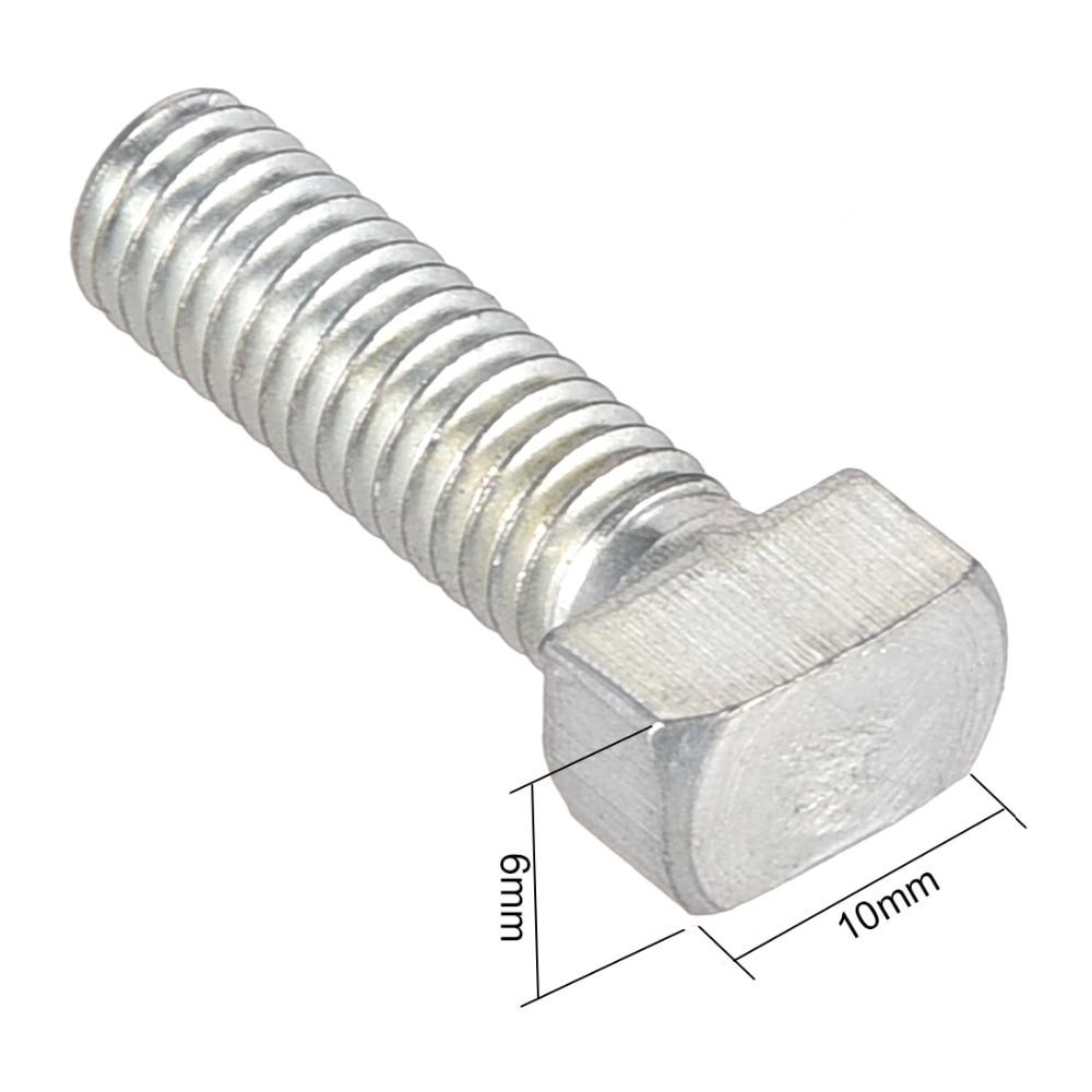 uxcell M8 Thread 25mm T-Slot Drop-in Stud Sliding Screw Bolt Carbon Steel 45Series 5pcs