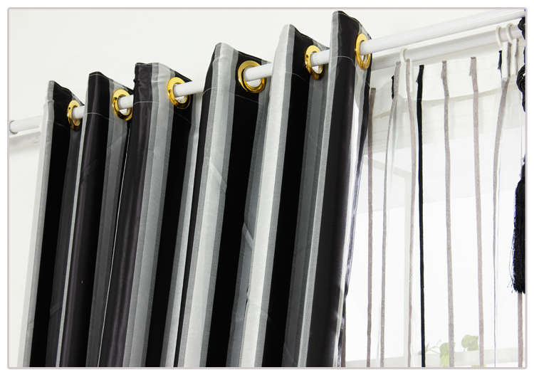 White Curtains black and white curtains for living room : Aliexpress.com : Buy Black and White Vertical Stripe Window ...