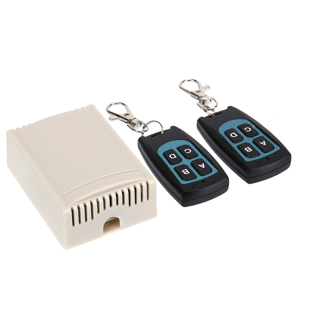 12V 4CH 433MHz Wireless Remote Control Switch Four Way Learning Code Receiver Multi-Function Remote Control Waterproof dc12v rf wireless switch wireless remote control system1transmitter 6receiver10a 1ch toggle momentary latched learning code