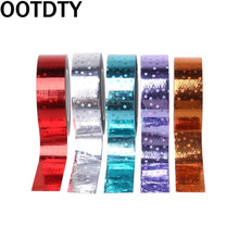 Rhythmic Gymnastics Decoration Holographic RG Prismatic Glitter Tape Hoops Stick