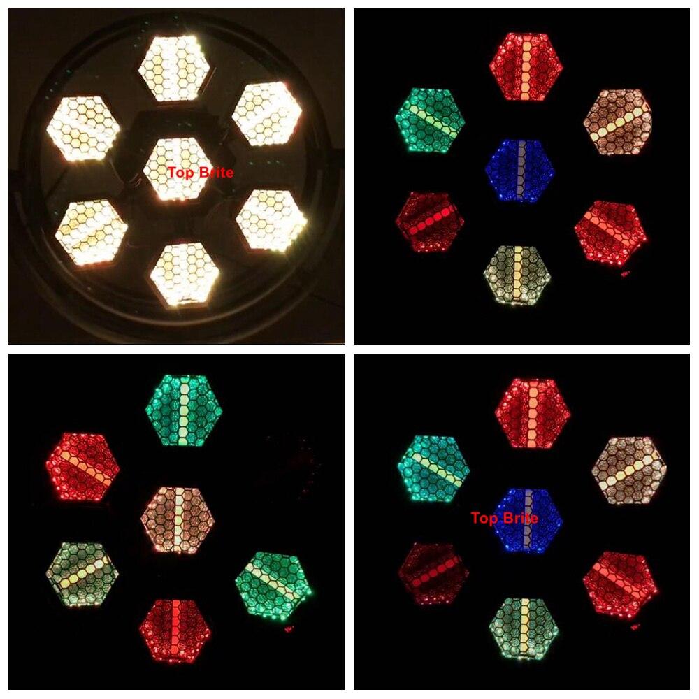 Light Music 7X60W Retro Flash Light With 42Pcs RGBW 4IN1 DMX Stage Lighting Effect Dj Wash Light DMX LED Strobe Light Party Club in Stage Lighting Effect from Lights Lighting