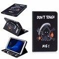 Manera de la alta calidad pintura libro funda para el samsung galaxy tab a A6 2016 T585 T580 T580N 10.1 pulgadas Tablet + Stylus + Film