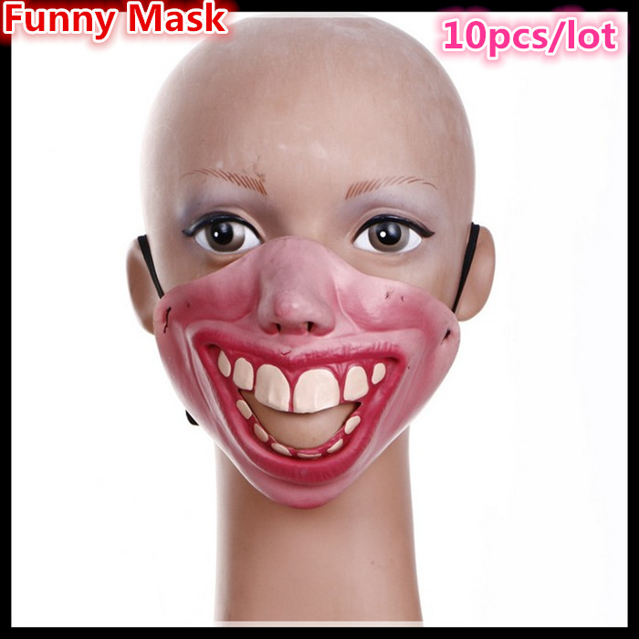 b004b93b42 New Funny Horrible Scary Mask Party Halloween Fool s Day Clown latex Mask  Cosplay Costume Half Face Masks Woman Man Children