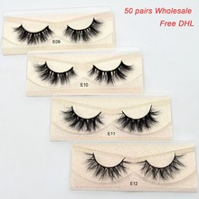 Free DHL 50pairs Visofree Eyelashes 3D Mink Lashes Handmade Mink Dramatic Lashes 51styles cruelty free reusable lashes wholesale