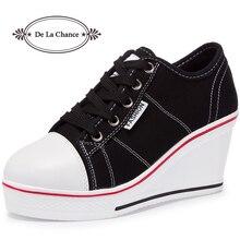 De La Chance Women Vulcanize Shoes Platform Breathable Canvas