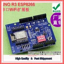 Envío Gratis 1 unids UNO-Ar.duino ESP8266 WiFi de serie tarjeta de expansión shiled ESP-12E placa de desarrollo (C2A1)