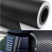 Auto Adesivo Auto Car Styling 200X50 cm 3D 4D In Fibra di Carbonio della Pellicola Del Vinile 3 m Impermeabile FAI DA TE Auto Moto accessori Adesivi