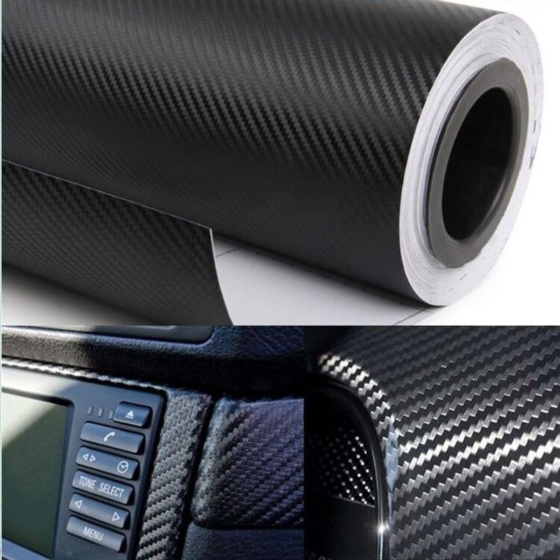 Etiqueta engomada del coche del estilo 200X50 cm 3D 4D fibra de carbono película de vinilo 3 M impermeable DIY motocicleta Auto accesorios pegatinas