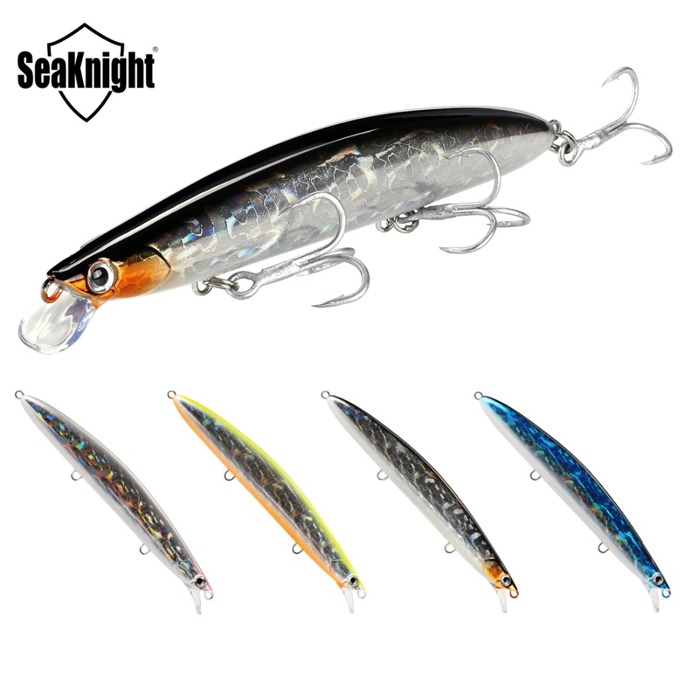 SeaKnight SK008 Hard Bait Minnow 125mm 20g 0.3-0.9M 4Pcs Fishing Lures Set Floating Lure 3D Eyes Artificial Baits Fishing Tackle