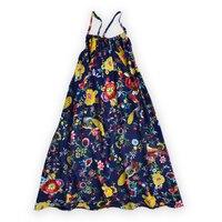Beach Dress For Girls Sleeveless Dresses Fashion Kid Print Clothing Summer Bohemian Dresses Floral V Neck