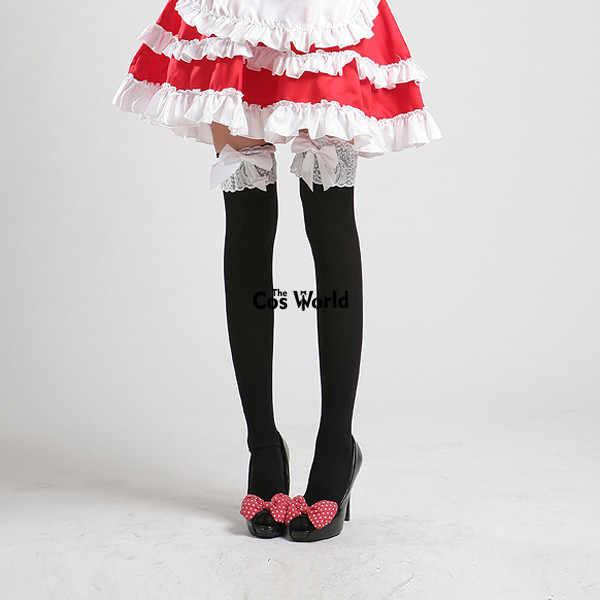 Lolita Strik Kant Over De Knie Lange Kous Sokken Thighhighs Voor Maid Dress Cosplay Kostuums