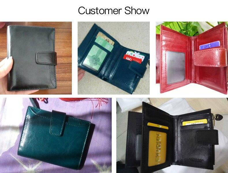 SENDEFN женщин's кожаный бумажник небольшой люксовый бренд бумажник женщин короткий молния дамы портмоне карты держатель мульти красный/синий 5191-69