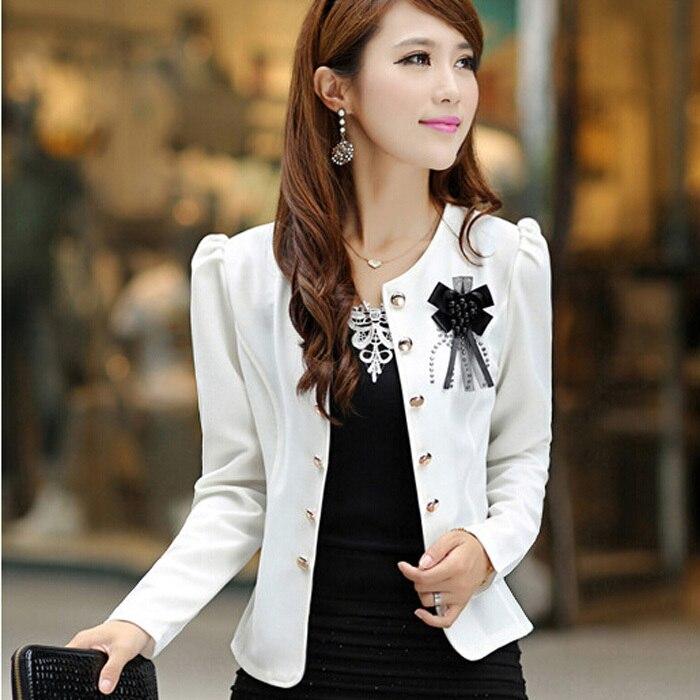 New 2018 Short Women Blazer Spring Blazer Feminino Summer Style Autumn Plus Size Clothing Outerwear Long-sleeve Coat Jackets