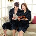 Unisex Amantes de Franela Para Hombre Pijamas de Invierno Largo Albornoz Ropa de Dormir Para Hombres de Las Mujeres Albornoz Pijama de Dormir Masculina Nueva Manga Larga