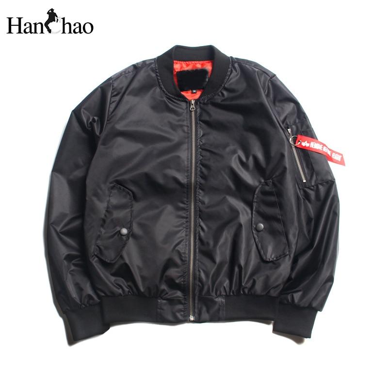 Solid Color Men s Bomber Jackets Thin Style 2017 Spring Pocket on Sleeve Pilot Jackets Men