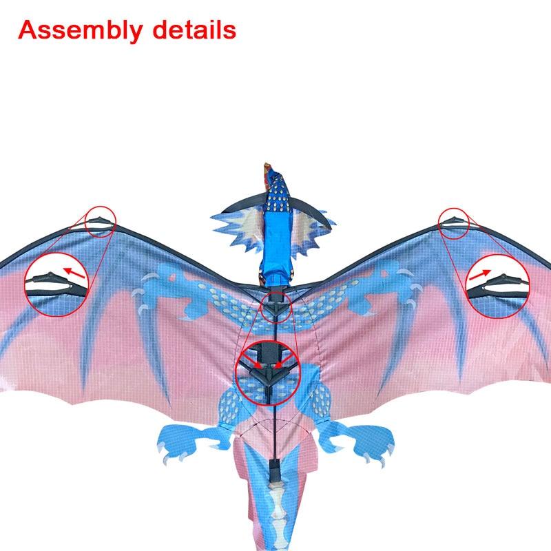 Модный крутой одиночный хвост воздушный змей 3D Дракон Упражнение многоцветная начинающая способность набор игрушек