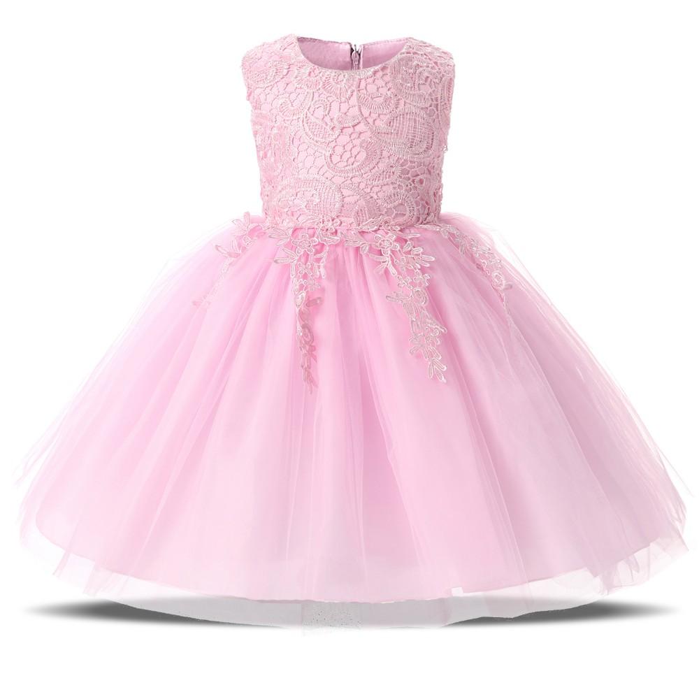 999b86e7d64b Hot Summer Baby Kids 1 Year Girls Flower Sleeveless Princess Mini Dress  Party Dresses Clothes Red Pink Solid VestidoUSD 3.04-3.47/piece