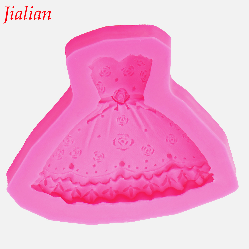 Angel Wings kremówka ciasto silikonowe formy Księżniczka sukienka Odwracalne formowanie czekoladowe mydło kuchnia Pieczenia dekoracji narzędzia F0011