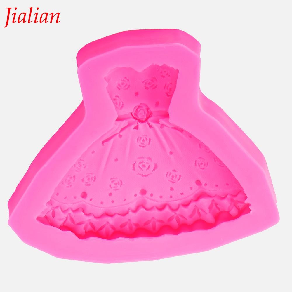एन्जिल पंख प्रिय केक सिलिकॉन मोल्ड राजकुमारी पोशाक चॉकलेट साबुन रसोई पाक सजावट उपकरण F0011 बनाने उल्टा