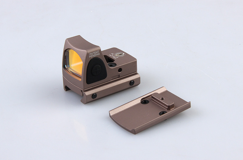 Hot Sale Tactical Trijicon RMR Style Adjustable Red Dot Sight With Switch With Glock Mount For Hunting BWD-043Tan