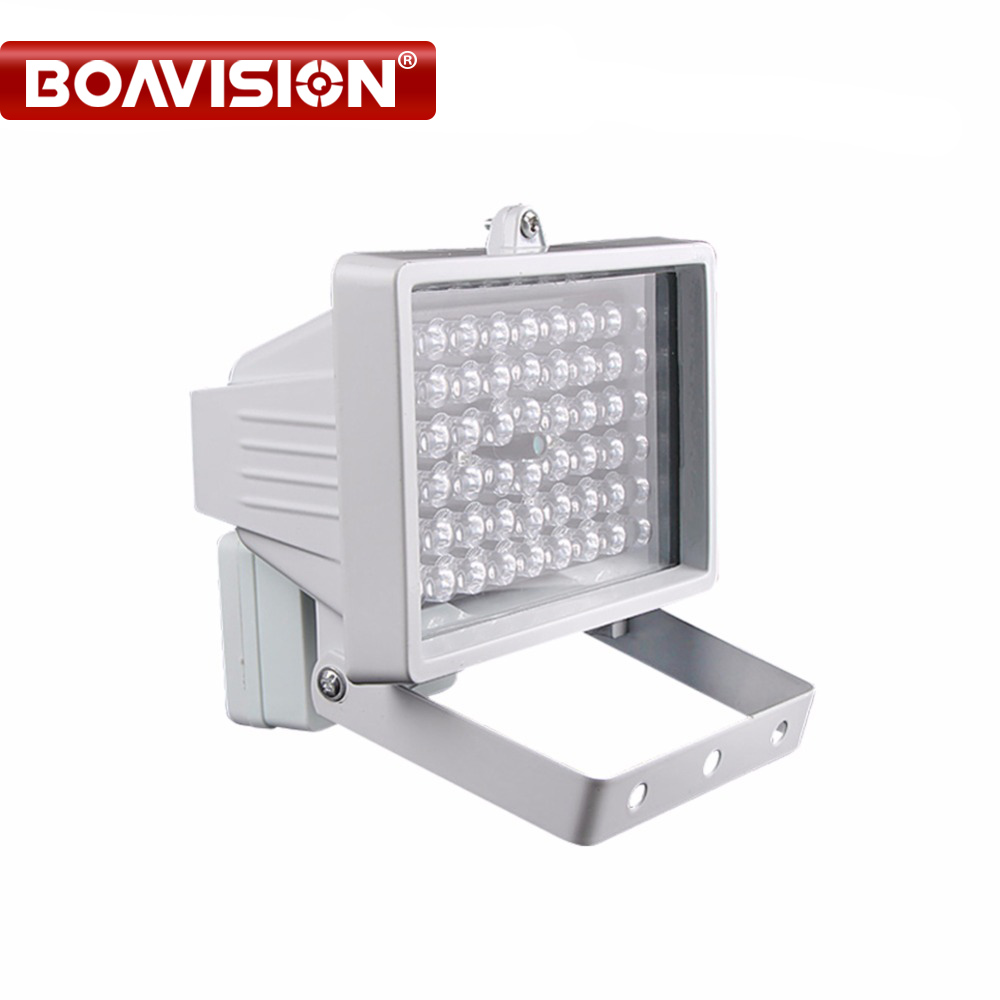 30m 54 LED 12V 8W Night Vision IR Infrared Illuminator Light lamp LED Auxiliary Lighting For Security CCTV Camera 6 led infrared night vision ir light illuminator lamp waterproof housing for cctv security camera system