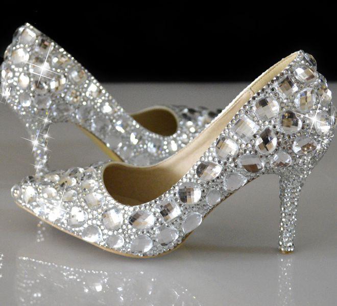 Sexy argent cristal strass chaussures de mariage femme talons minces NQ063 point orteils 8 cm talon dame argent partie cristal pompeSexy argent cristal strass chaussures de mariage femme talons minces NQ063 point orteils 8 cm talon dame argent partie cristal pompe