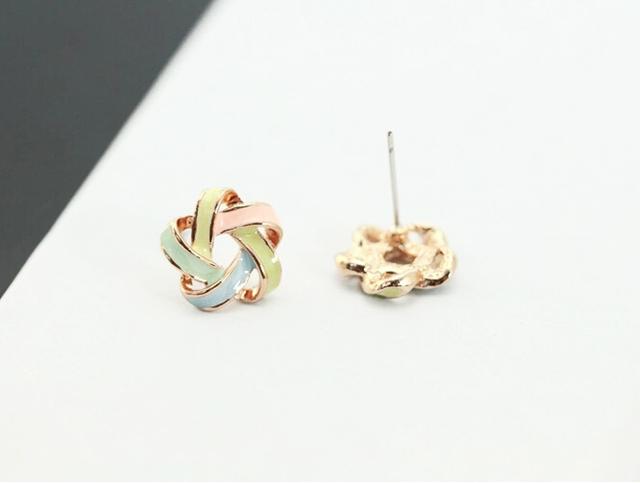 New Fashion Novel Jewelry Color Stripe Earrings For Women