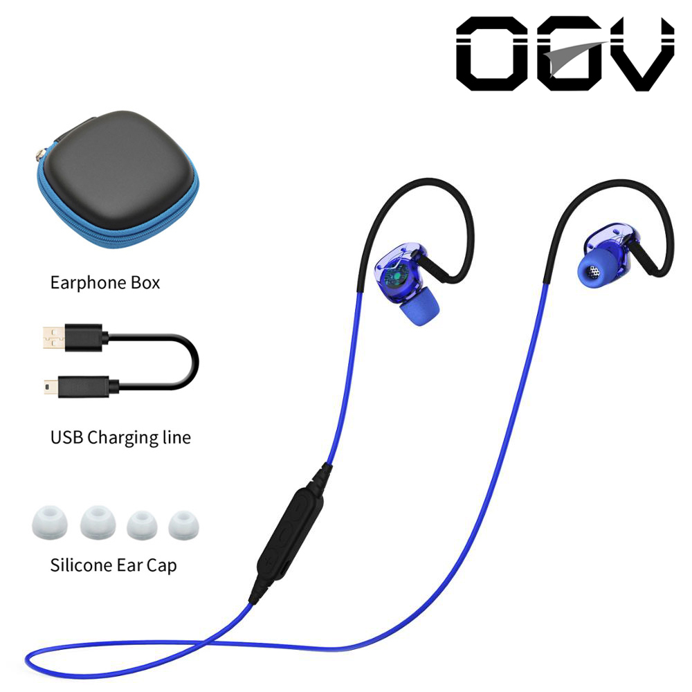 OGVBX240 Wireless Bluetooth Earphone Sweatproof Sport Headset Stereo Headsets With Mic for iPhone xiaomi Samsung HTC Huawei