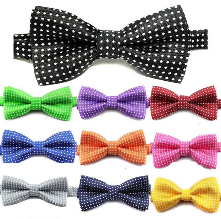 100PC Lot Polka Dots Pet Dog Bow Ties Adjustable Cat Dog Bowties Dog Neckties Pet Grooming
