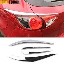 Für Mazda Cx-5 Cx5 2012 2013 2014 2015 2016 Chrome Hinten Schwanz Licht Rücklicht Lampe Abdeckung Trim Deckel Augenlid Augenbraue form Garnieren