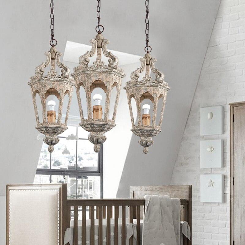 Vintage Wood Pendant Light E27 LED Bulbs Luminaire Suspendu For Living Room Bedroom Study Kitchen Vintage Home Decor Lamp