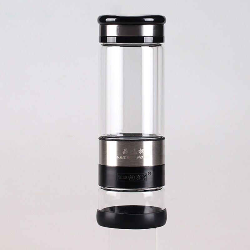 Бутылка для чая/стеклянная изоляционная разделительная двойная глина крутая элегантная портативная бутылка для приготовления чая 400 мл S