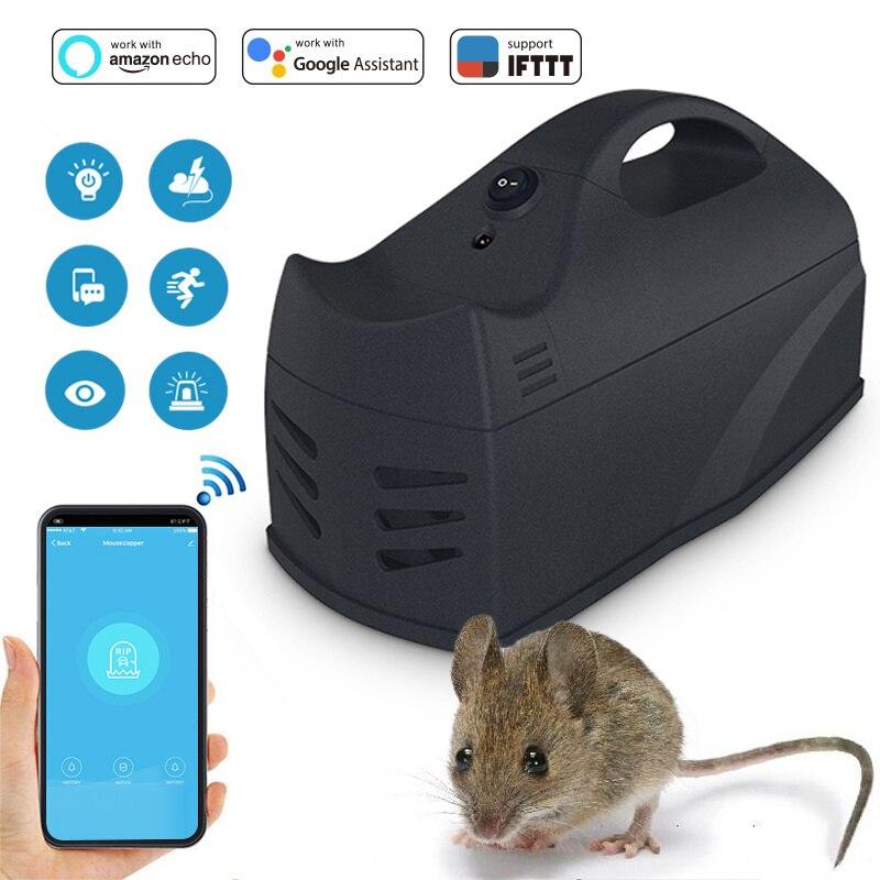 NAS-MA01W WiFi capteur souris piège Mousetrap conseil souris collantes colle piège rongeur Rat serpent insectes attrape travailler avec Alexa Google home