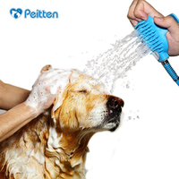 New Arrival Pet Bathing Tool Comfortable Shower Tool Cleaning Washing Bath Sprayers Massages Nozzle Dog Brush