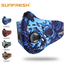 Fashion mouth face mask Dustproof Mountain Bicycle riding Sport Road winter anti dust PM2.5 N95 Activated Carbon breathing
