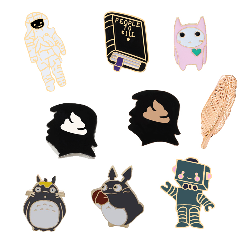 Pinback Buttons Badges Pins Magic Witchcraft Lapel Pin Brooch Clip Trendy Accessory Jacket T-Shirt Bag Hat Shoe