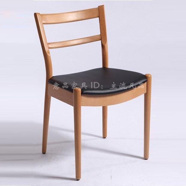 Estudio europeo silla de madera silla de comedor muebles IKEA estilo ...
