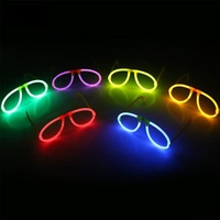 40 Pcs Glow Fluorescence Glasses LED Skull Glasses Light Luminous Sticks Neon Xmas Halloween Party Novelty Toy Random Color