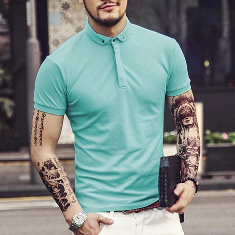 Men's Brand cotton   Polo   Shirt For Men Designer   Polos   Men Cotton Short Sleeve shirt jerseys men   polo   shirt New PL003-2