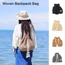 32be8db41afd Mori Girl Тип модный рюкзак соломы тканые мешок праздник мешок отдыха Пляжная  Сумка Пляжная рюкзак(