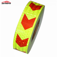 2 147 Yellow With Red Arrows Reflective Warning Conspicuity Tape Conspicuity Strips Reflective Material