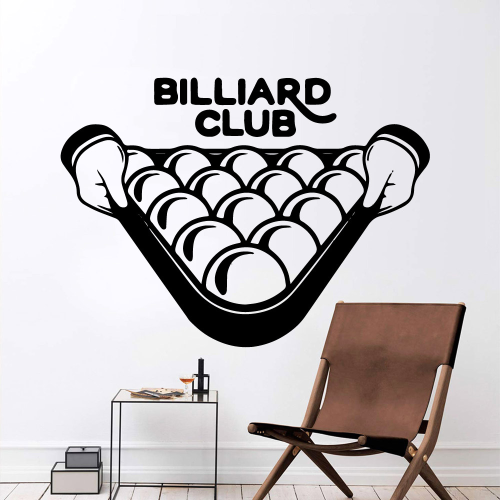 Modern billiard club Removable Art Vinyl Wall Stickers Bedroom Nursery Decoration Decoration Accessories Murals in Wall Stickers from Home Garden