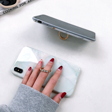 Marble Case For iPhone With Finger Ring