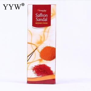 6pcs/Box Sandalwood Incense Sticks India Home Scent Diffuser Aroma Smoke Sticks Oud Home Fragrance Premium Incent Sage Stick
